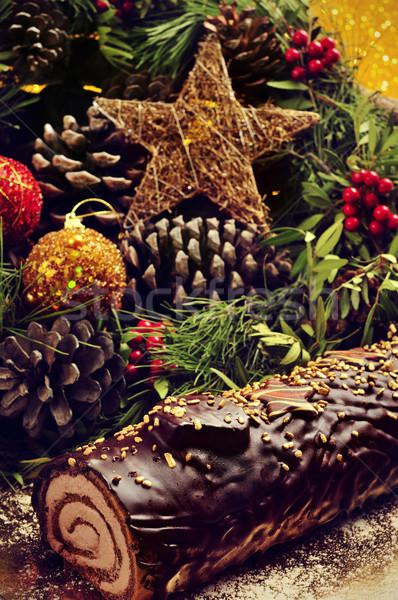 Kek geleneksel Noel zaman tablo Stok fotoğraf © nito