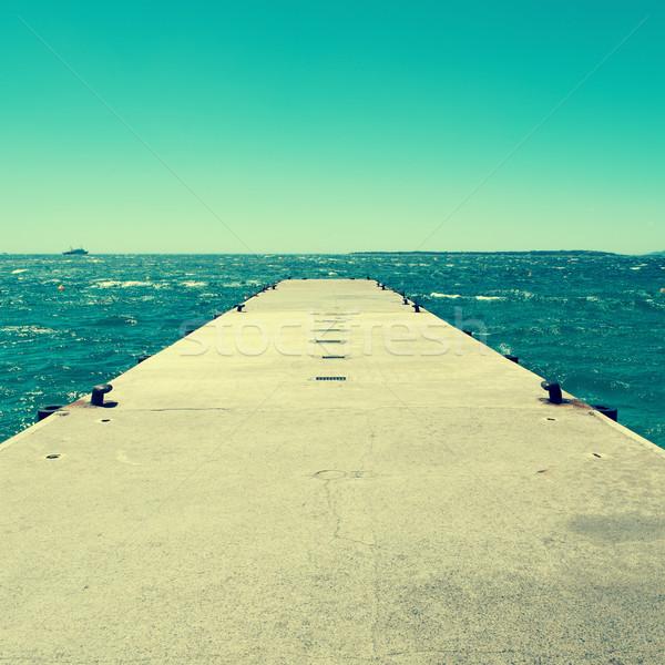 dock in the Mediterranean sea, with a retro effect Stock photo © nito