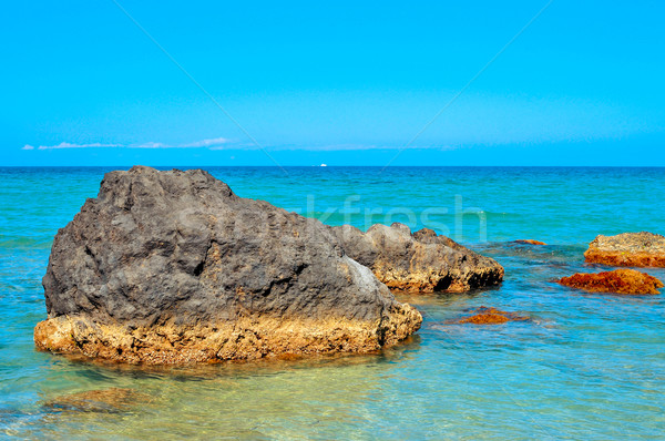 Krajobraz morze Śródziemne morza wyspa Hiszpania cichy Zdjęcia stock © nito