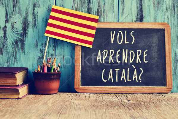 question vols aprendre catala?, do you want to learn Catalan? Stock photo © nito