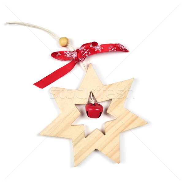wooden christmas star on a white background Stock photo © nito