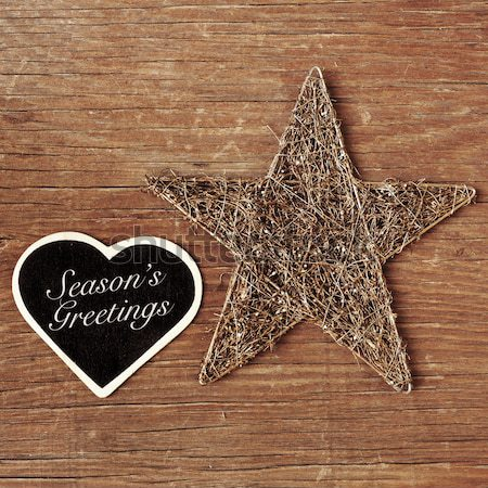 text merry christmas in a star-shaped blackboard Stock photo © nito