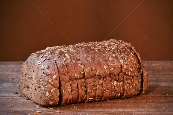 Rogge brood houten oppervlak brood Stockfoto © nito