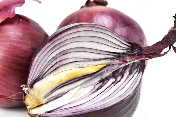 raw red onions Stock photo © nito