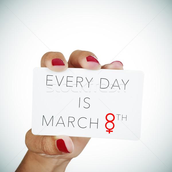 текста день стороны красный полированный Сток-фото © nito