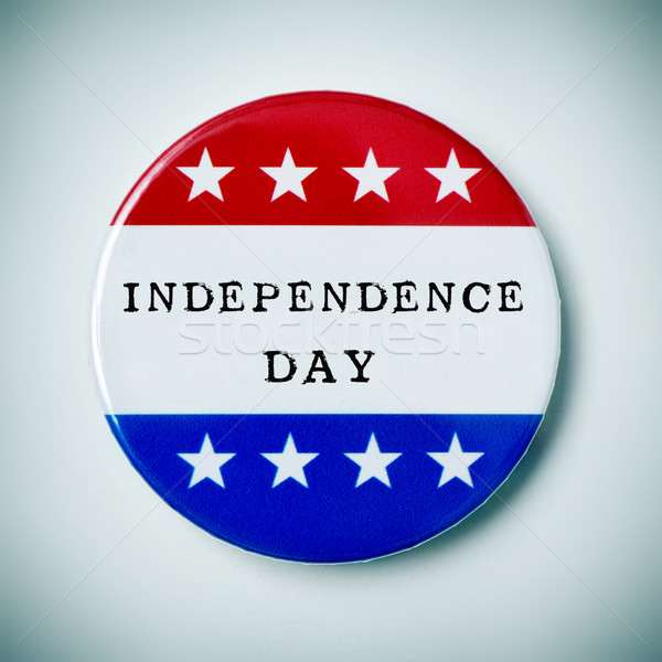 pin button with the text independence day Stock photo © nito