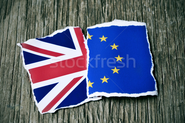the European and the British flags Stock photo © nito