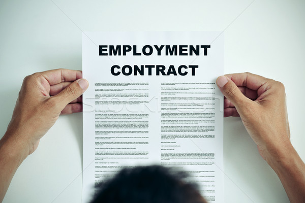 man reading an employment contract Stock photo © nito