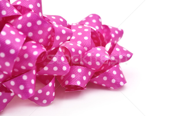 pink gift puff bows patterned with white dots Stock photo © nito