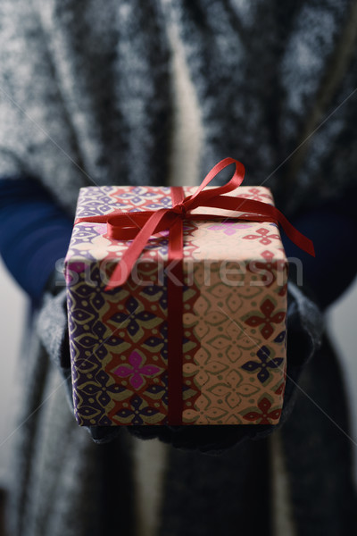 young woman with a gift Stock photo © nito