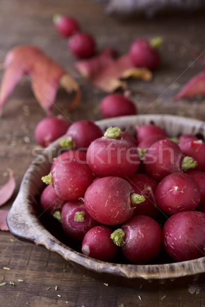 raw small european radishes Stock photo © nito
