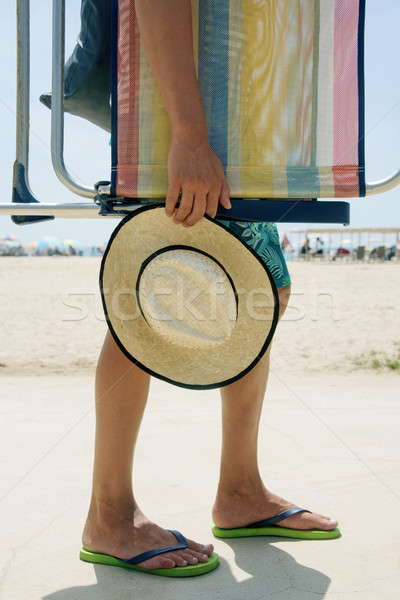 man carrying a beach chair Stock photo © nito