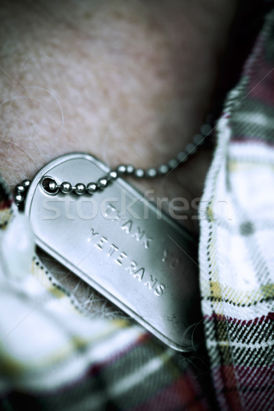 text thank you veterans in a dog tag Stock photo © nito