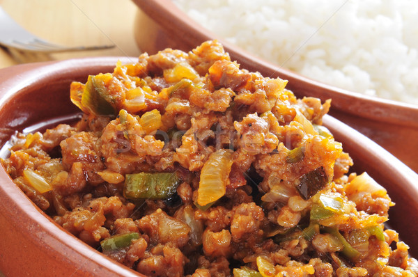 picadillo, traditional dish in many latin american countries Stock photo © nito