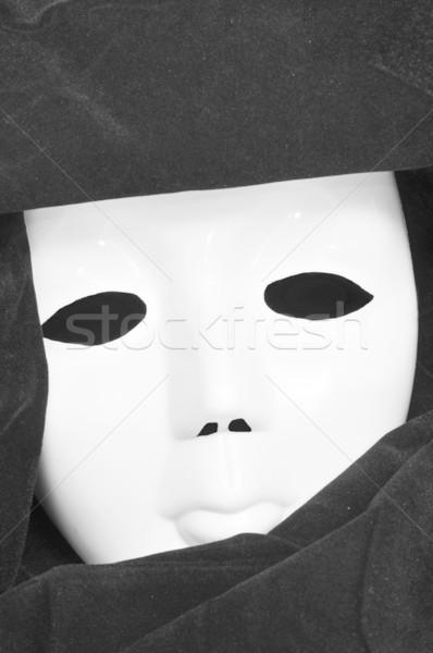 Velencei maszk közelkép arc jókedv száj szövet Stock fotó © nito