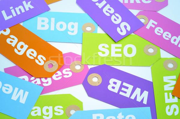 Site papier étiquettes différent Photo stock © nito