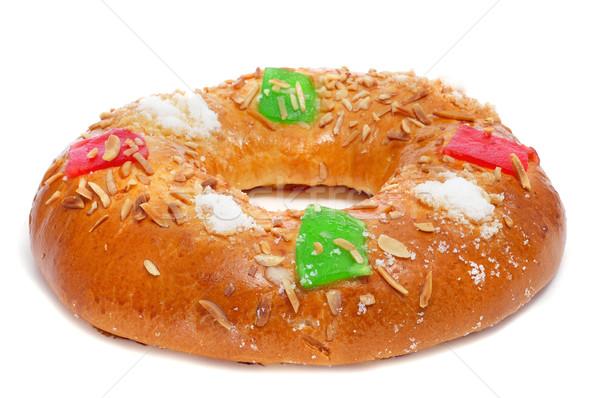 Espanhol três reis bolo dia branco fruto Foto stock © nito