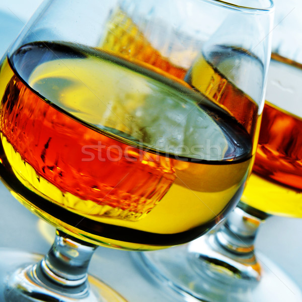 cognac glasses with liquor Stock photo © nito