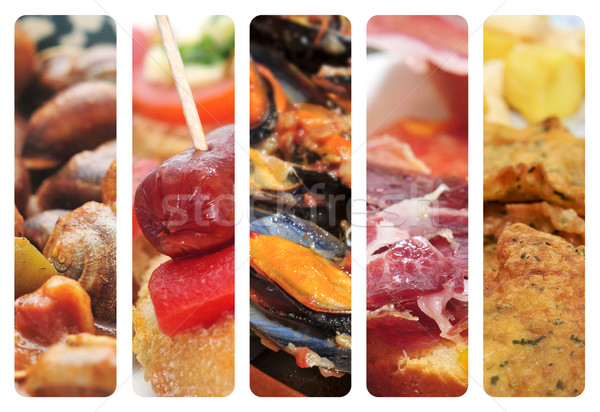 spanish cuisine collage Stock photo © nito