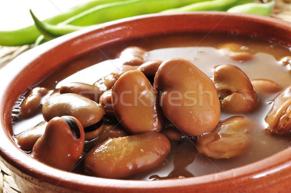 broad bean stew Stock photo © nito