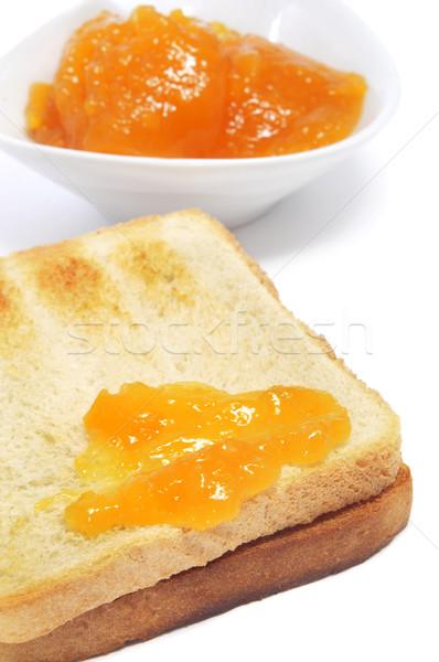 Brindis atasco primer plano blanco alimentos naranja Foto stock © nito