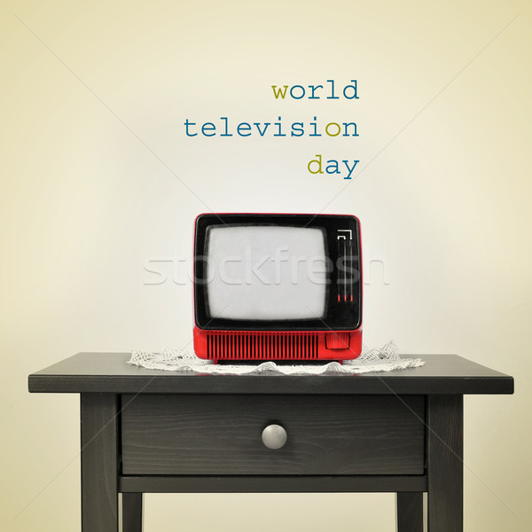 ancient television and the sentence world television day, with a Stock photo © nito