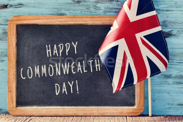text happy commonwealth day Stock photo © nito