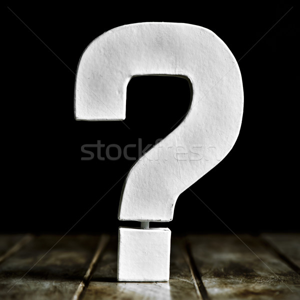 three-dimensional question mark Stock photo © nito