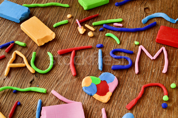 word autism made from modelling clay Stock photo © nito