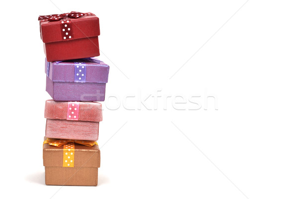 stack of gifts on a white background Stock photo © nito
