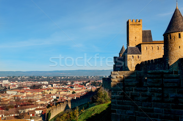 Cite de Carcassonne and Carcassone, France Stock photo © nito