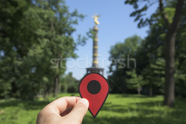 man with a red marker in the Brandenburg Gate Stock photo © nito