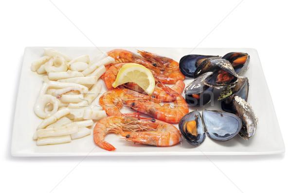 Tipico cotto frutti di mare primo piano vassoio spagnolo Foto d'archivio © nito
