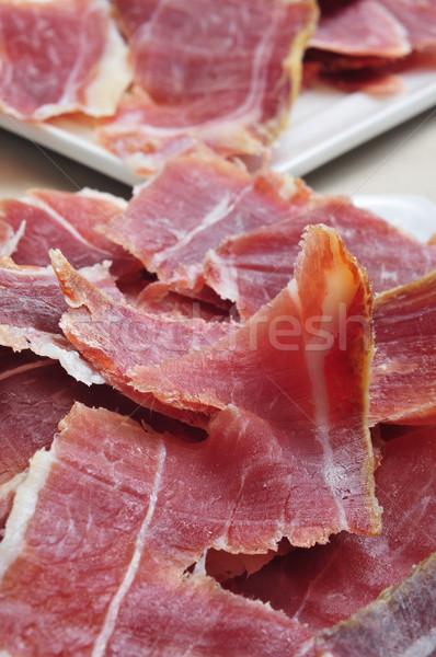 Serrano jambon tapas İspanyolca gıda Stok fotoğraf © nito
