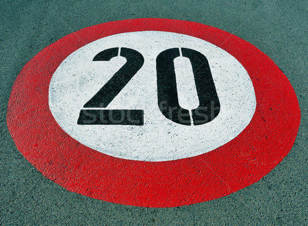 speed limit sign Stock photo © nito