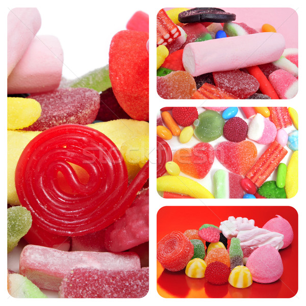 candies collage Stock photo © nito