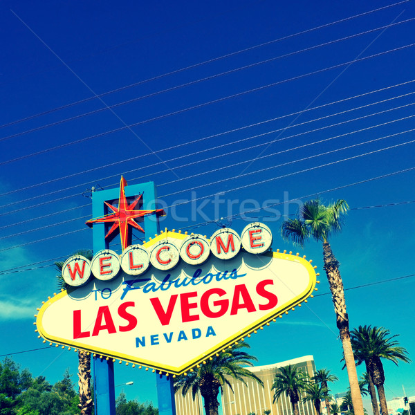 Welcome to Fabulous Las Vegas sign Stock photo © nito