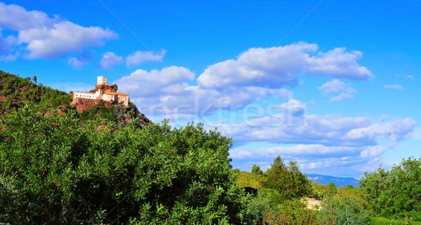 Szentély kanca LA tábor Spanyolország kilátás Stock fotó © nito