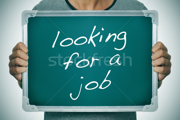 man looking for a job Stock photo © nito