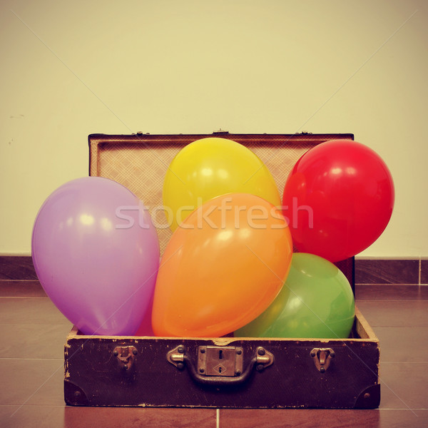 balloons in an old suitcase Stock photo © nito