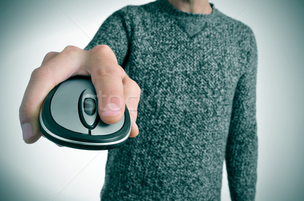 男 マウス 若い男 カジュアル 着用 ストックフォト © nito