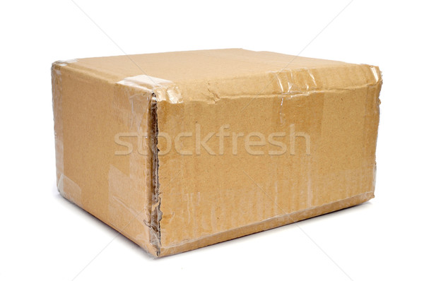 brown cardboard box sealed with tape Stock photo © nito