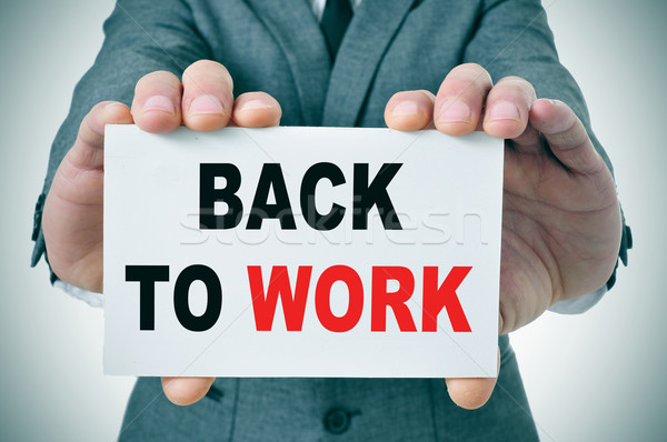 back to work Stock photo © nito