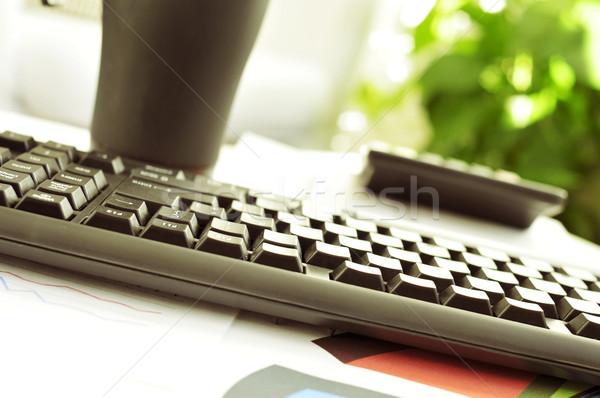 Biuro nice atmosfera szczegół biurko domu Zdjęcia stock © nito