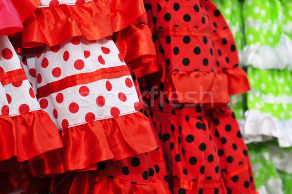 フラメンコ ドレス クローズアップ 典型的な スペイン 背景 ストックフォト © nito