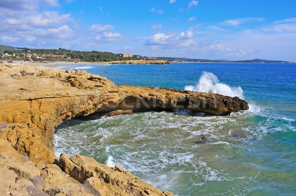 coast of Tarragona, Spain, and Arrabassada beach Stock photo © nito