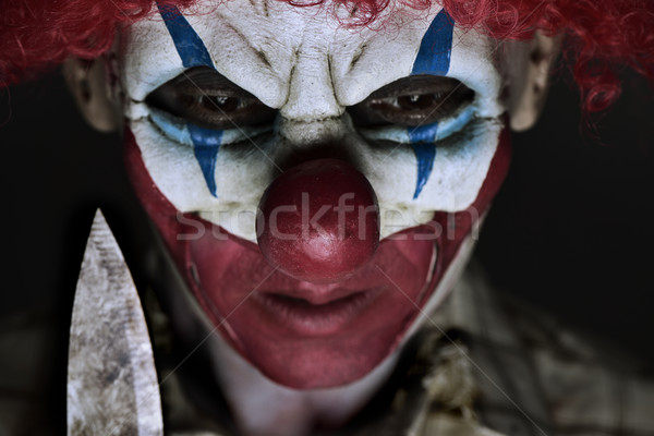 Effrayant mal clown couteau Photo stock © nito