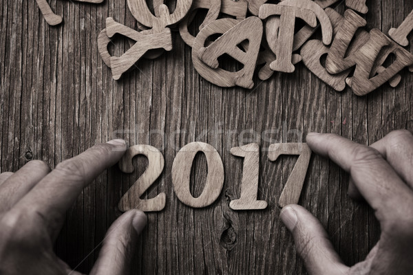 number 2017, as the new year Stock photo © nito