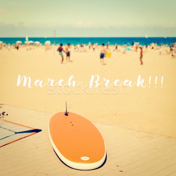 Törik tengerpart szöveg elmosódott kép szörfdeszka Stock fotó © nito