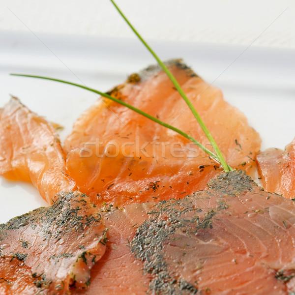 Marinado prato fatias servido Foto stock © nito